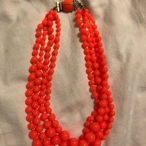 J Crew multi-strand necklace with bug closure!